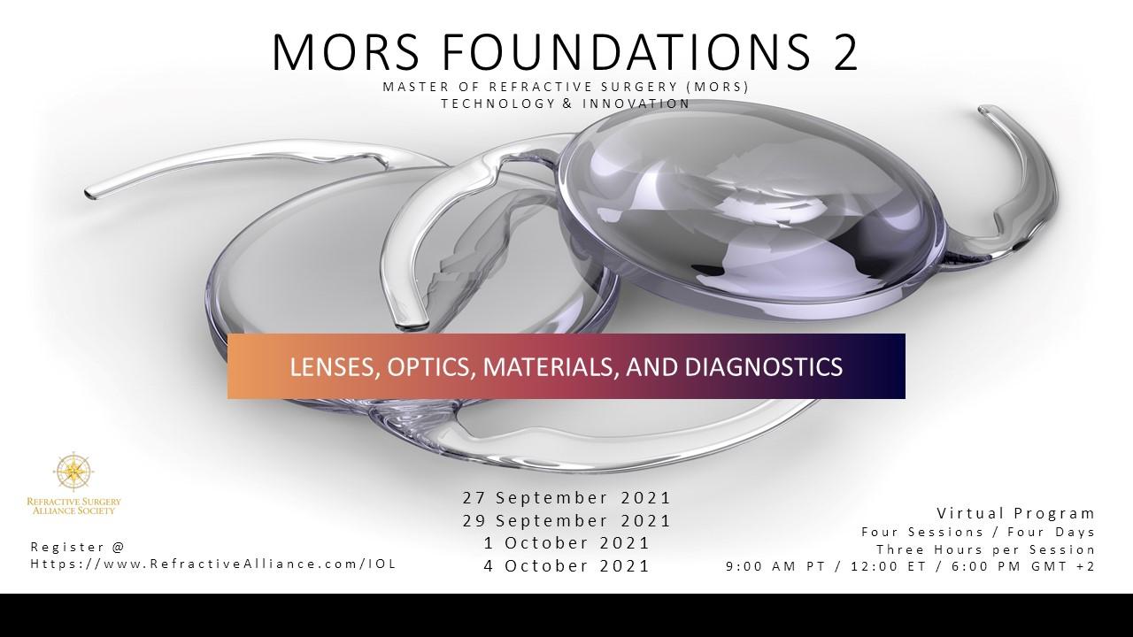 LENSES, OPTICS, MATERIALS, and DIAGNOSTICS